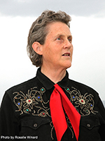 Portrait of Temple Grandin.