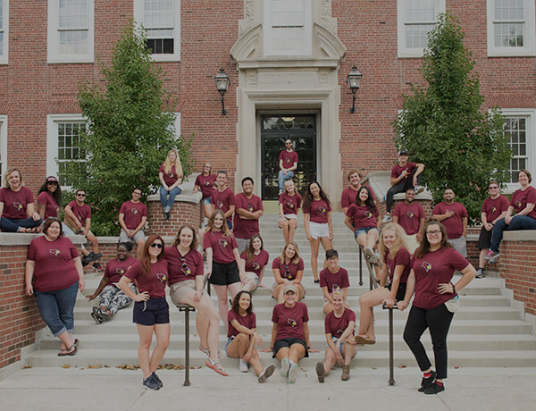 Group of students who worked Welcome Week.